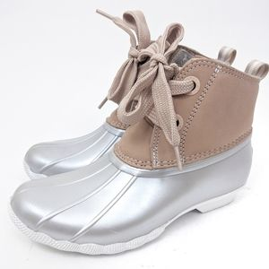 Sperry NEW Saltwater Nubuck Duck Boots Rose Pink 6